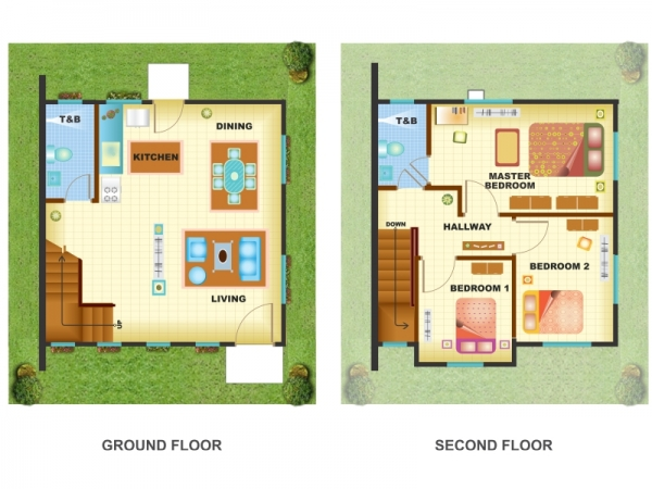 Washington place dasmarinas cavite wynona model house for Low cost house plans philippines