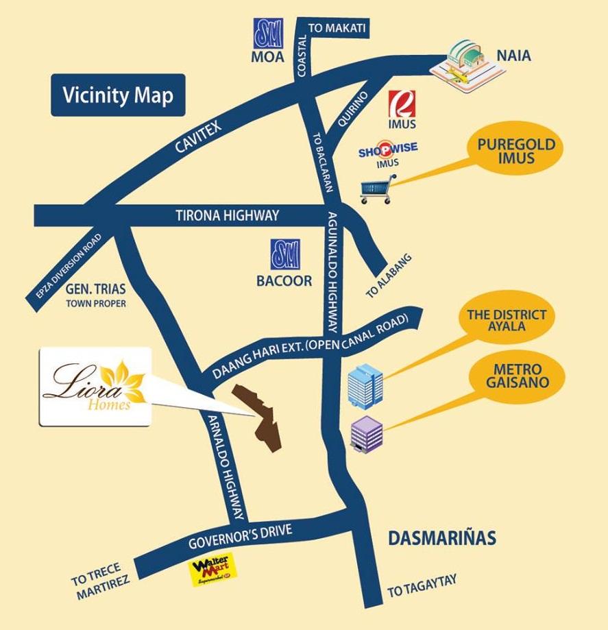 liora vicinity map